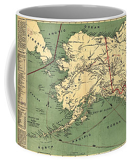 Coffee Mug featuring the photograph 1897 Map Of Alaska by Charles Beeler