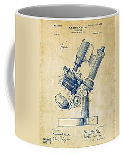 1899 Microscope Patent Vintage Coffee Mug