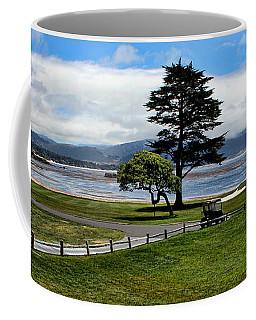 18th At Pebble Beach Panorama Coffee Mug