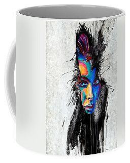 Coffee Mug featuring the painting Facial Expressions by Rafael Salazar