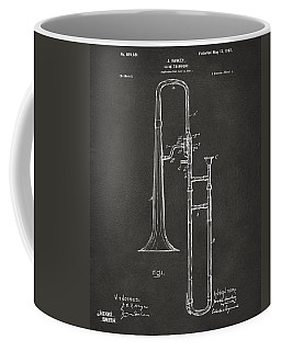1902 Slide Trombone Patent Artwork - Gray Coffee Mug