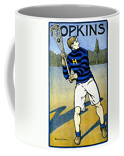 1905 - Johns Hopkins University Lacrosse Poster - Color Coffee Mug