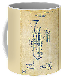 1906 Brass Wind Instrument Patent Artwork Vintage Coffee Mug
