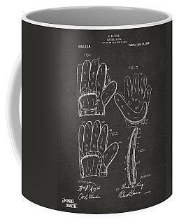 1910 Baseball Glove Patent Artwork - Gray Coffee Mug
