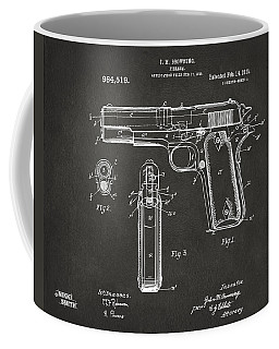 1911 Browning Firearm Patent Artwork - Gray Coffee Mug by Nikki Marie Smith