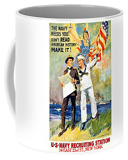 1917 - United States Navy Recruiting Poster - World War One - Color Coffee Mug