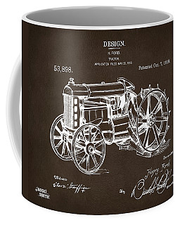 Coffee Mug featuring the drawing 1919 Henry Ford Tractor Patent Espresso by Nikki Marie Smith