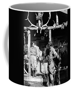1920s 1930s Couple And Horses In Front Coffee Mug