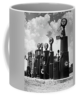 1920s 1930s Line Of Gasoline Pumps Coffee Mug