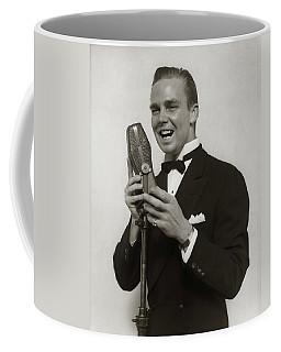 1920s 1930s Smiling Man Radio Singer Coffee Mug