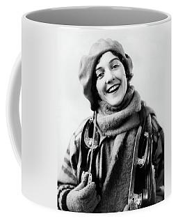1920s 1930s Smiling Woman Dressed Coffee Mug
