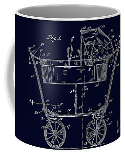 1922 Baby Carriage Patent Art Blueprint Coffee Mug