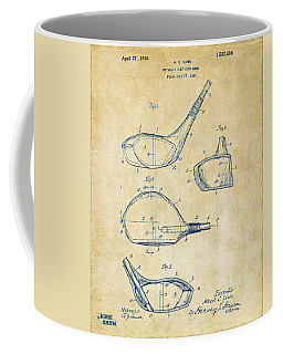 1926 Golf Club Patent Artwork - Vintage Coffee Mug by Nikki Marie Smith