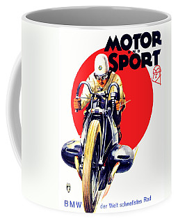 1929 - Bmw Motorcycle Poster - Color Coffee Mug