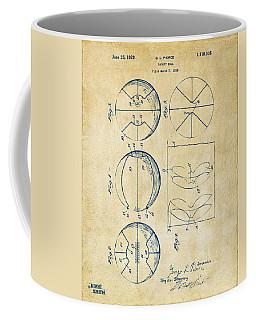 1929 Basketball Patent Artwork - Vintage Coffee Mug