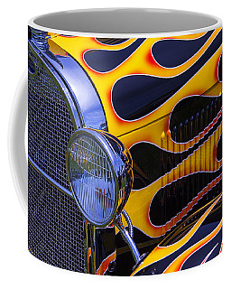 1929 Model A 2 Door Sedan With Flames Coffee Mug