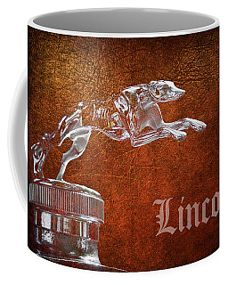 Coffee Mug featuring the photograph 1930 Lincoln Logo by Steve McKinzie