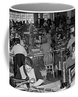 1930s 1940s Sweatshop With Workers Coffee Mug
