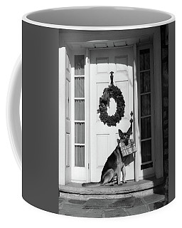1930s German Shepherd Dog Sitting Front Coffee Mug