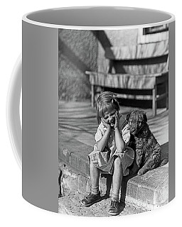 1930s Little Girl Sitting On Porch Coffee Mug