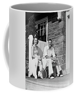 1930s Man And Woman Sitting On Porch Coffee Mug