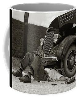 1930s Man On Back Wearing Striped Socks Coffee Mug