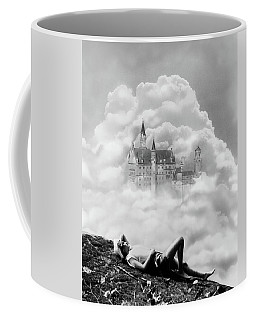 1930s Montage Of Young Woman Dreaming Coffee Mug