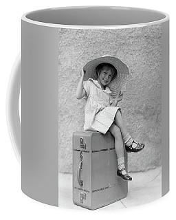 1930s Portrait Smiling Little Girl Coffee Mug