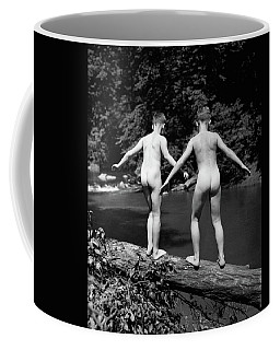 1930s Rear View Pair Naked Skinny- Coffee Mug