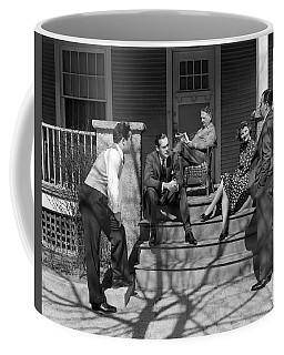 1930s Three Men Courting A Women Coffee Mug