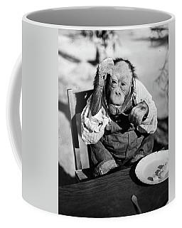 1930s Very Old Chimpanzee Wearing Shirt Coffee Mug