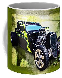 1934 Ford Three Window Coupe Hot Rod Coffee Mug