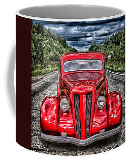 Coffee Mug featuring the digital art 1935 Ford Window Coupe by Richard Farrington