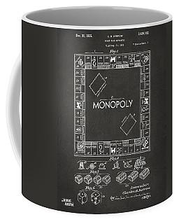 1935 Monopoly Game Board Patent Artwork - Gray Coffee Mug
