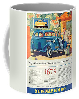 1936 - Nash Sedan Automobile Advertisement - Color Coffee Mug