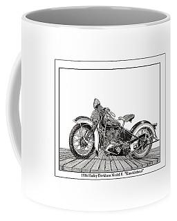 1936 Harley Knucklehead Coffee Mug by Jack Pumphrey