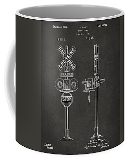 1936 Rail Road Crossing Sign Patent Artwork - Gray Coffee Mug
