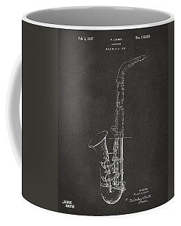 1937 Saxophone Patent Artwork - Gray Coffee Mug