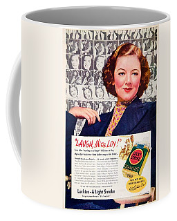 1938 - Lucky Strike Cigarettes Advertising - Myrna Loy - Color Coffee Mug