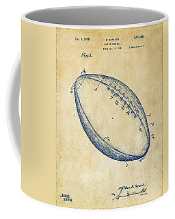 1939 Football Patent Artwork - Vintage Coffee Mug by Nikki Marie Smith