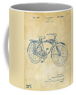 1939 Schwinn Bicycle Patent Artwork Vintage Coffee Mug