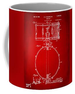 1939 Snare Drum Patent Red Coffee Mug