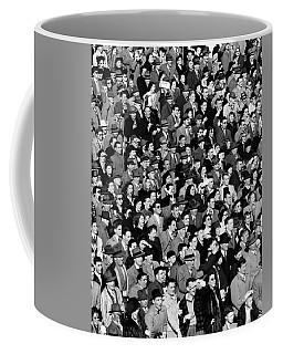 1940s Crowd In Bleachers At Football Coffee Mug