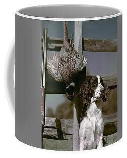 1940s Dark Brown & White Dog Springer Coffee Mug