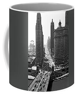 1940s Downtown Skyline Michigan Avenue Coffee Mug