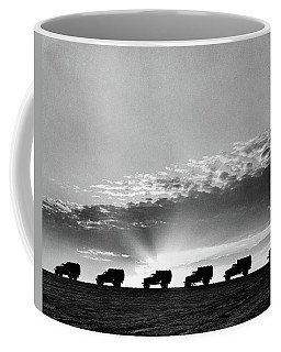 1940s Line Of Anonymous Silhouetted Coffee Mug