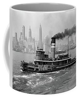 1940s Steam Engine Tugboat On Hudson Coffee Mug