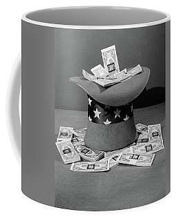 1940s Upside Down Uncle Sam Hat Filled Coffee Mug