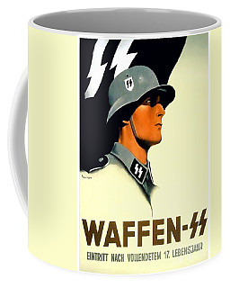 1941 - German Waffen Ss Recruitment Poster - Nazi - Color Coffee Mug