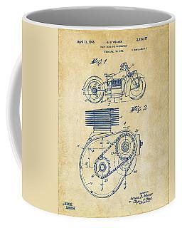 1941 Indian Motorcycle Patent Artwork - Vintage Coffee Mug